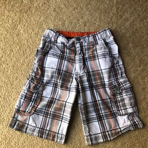 Plaid Boys Cargo Shorts